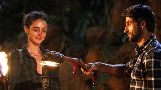 Sarah Tilleke and Jonathan LaPaglia on Australian Survivor.