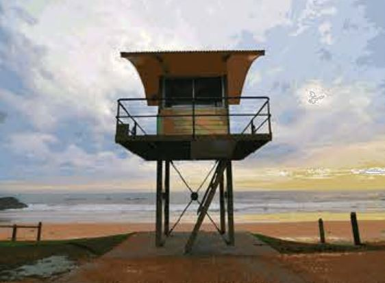 There are plans to build a shark observation tower at Sharpes Beach, Skennars Head.