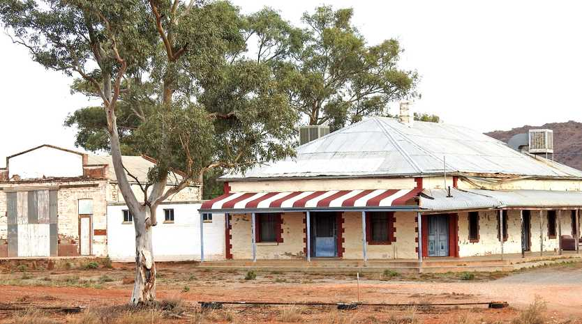 GREY NOMADS: The old Mt Gipps hotel near Broken Hill.