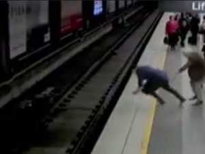 Australian Man faints, falls on to tracks as train comes in