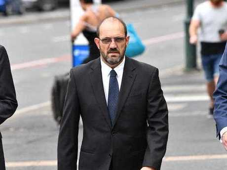 Former Ipswich City Council Chief Operating Officer of works, parks and recreation, Craig Maudsley, arrives at the Brisbane Magistrates Court in Brisbane, Wednesday, September 27, 2017. Maudsley is facing a charge of misconduct in public office following a Crime and Corruption Commission (CCC) investigation.