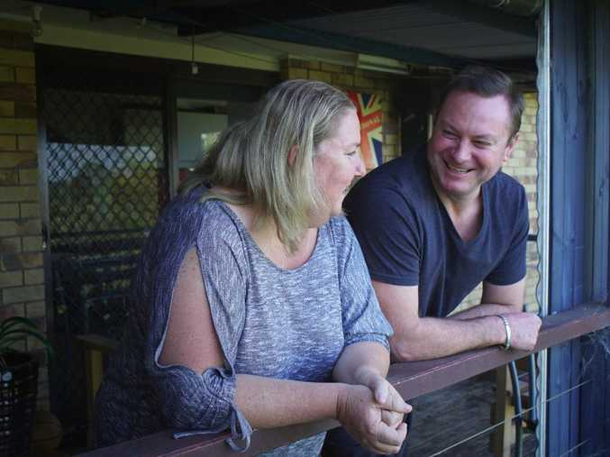 Leonie and Dale McNellee will rip down their deck to build their extension.