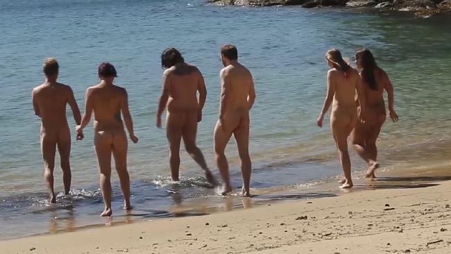 Hitting up a nude beach in Sydney is a popular activity for the YNOA. Picture: news.com.au Meet the Young Nudists of AustraliaSource:Supplied