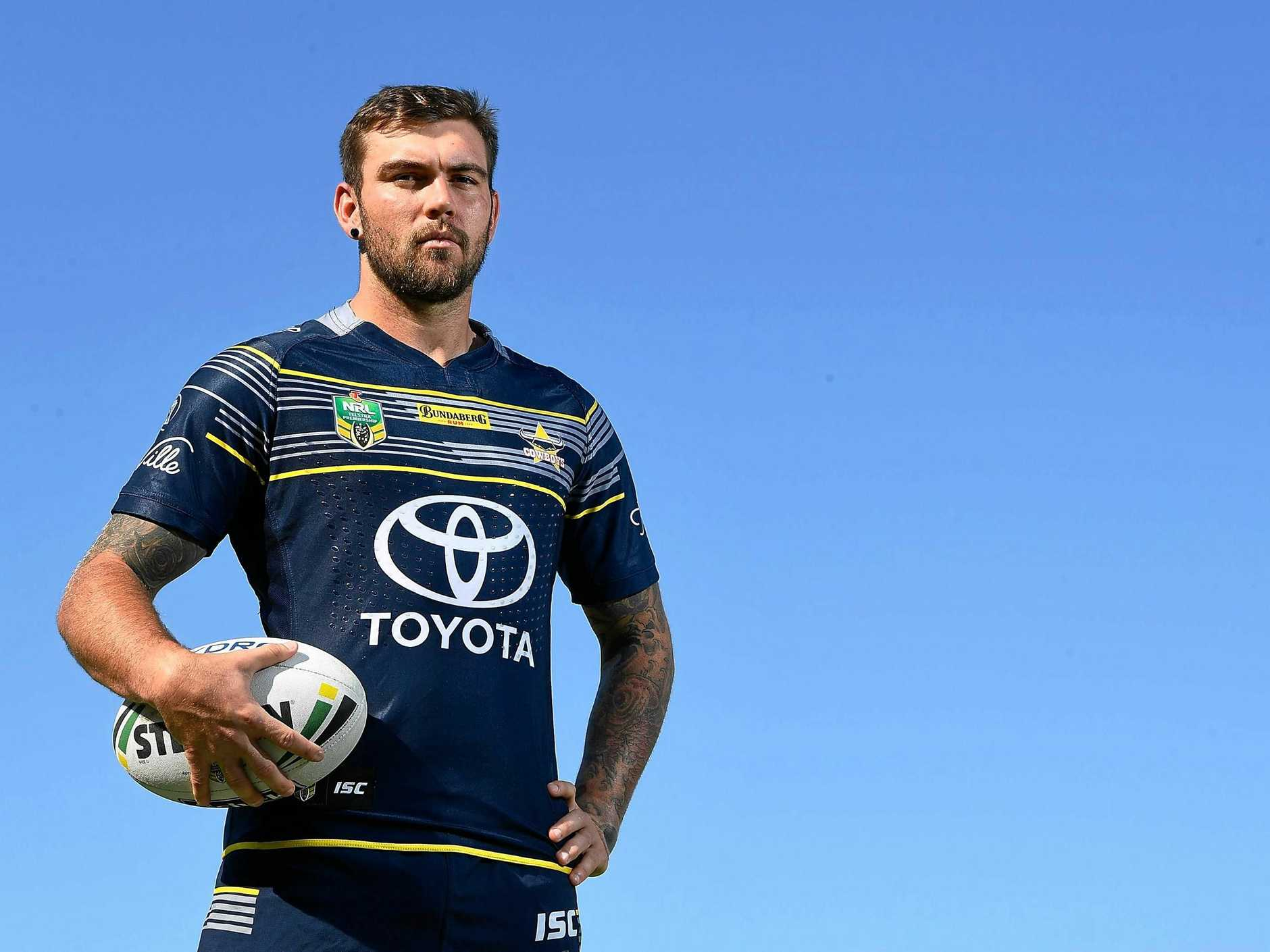 TOWNSVILLE, AUSTRALIA - SEPTEMBER 25:  Kyle Feldt of the Cowboys poses during a North Queensland Cowboys NRL media opportunity at Cowboys HQ on September 25, 2017 in Townsville, Australia.  (Photo by Ian Hitchcock/Getty Images)