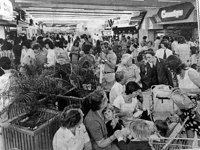 SHOPPING MAYHEM: More than 20,000 shoppers visited on the opening day of Lismore Square on September 21, 1979.
