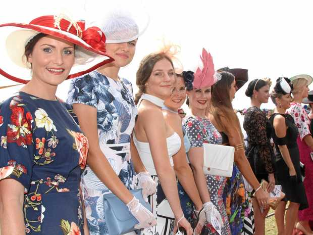 FASHION FLAIR: Fashions on the Field at the Bowen Races last year.