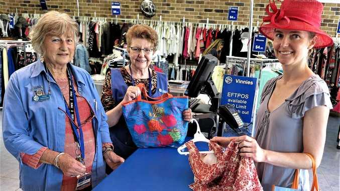 VINNIES: Brunswick Heads Vinnies Julia Hall, June Leroy and Beth Gibson.