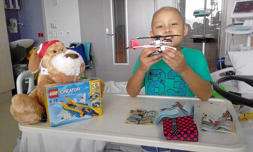 FIGHTER: Micah Murdoch, 6, is battling leukemia for the second time.