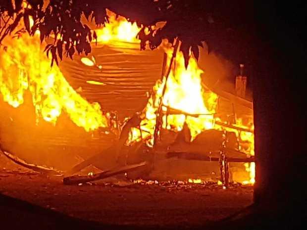 A caravan at Greenhills Caravan Park in Murwillumbah was destroyed by fire overnight.