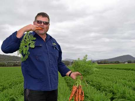 Kalfresh director and farmer Rob Hinrichsen testing the goods ahead of last year's event.