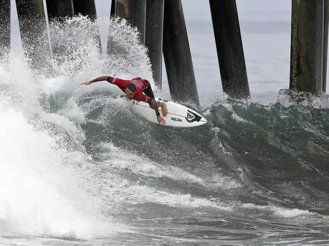 WRIGHT TIME: Former Lennox Head surfer Mikey Wright is aiming to qualify for the World Championship Tour next year.