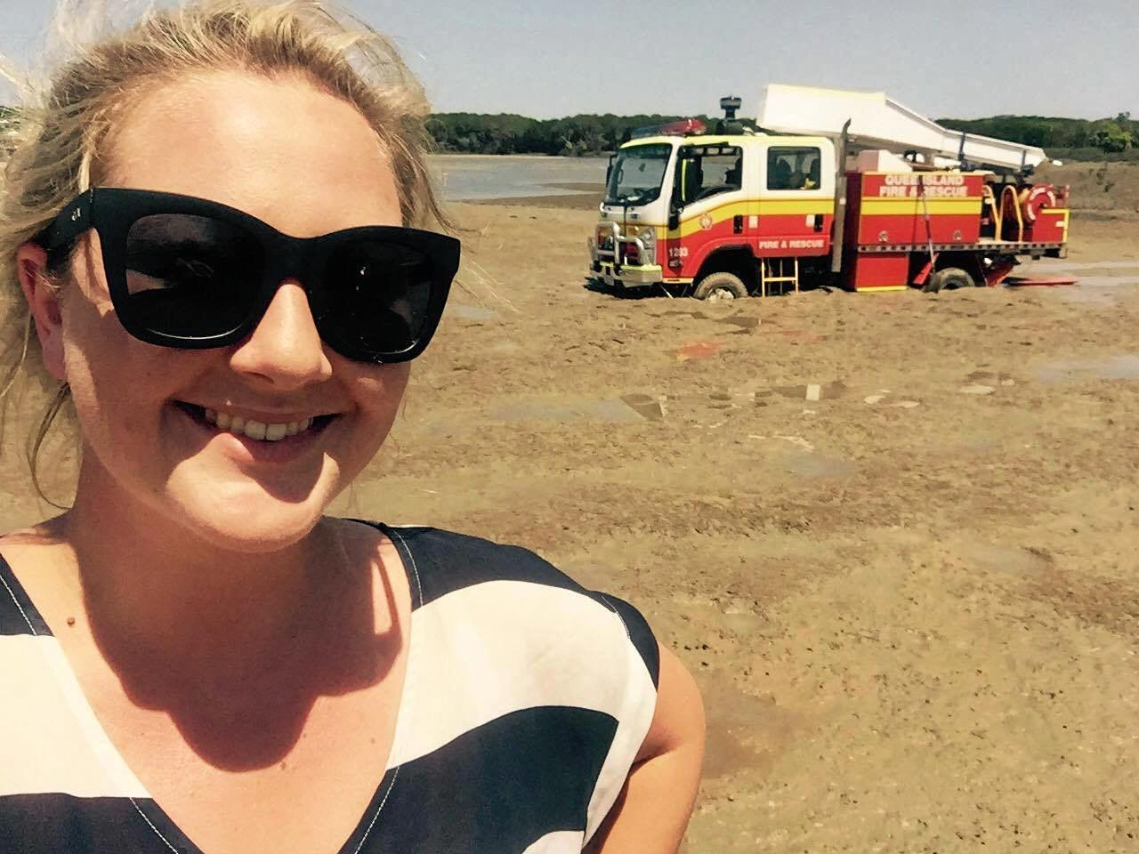 A QFES truck became bogged at Bucasia Beach.