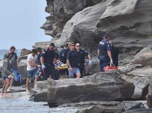 Race against time after teen boy falls from cliffs