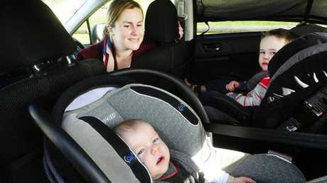 Police are appalled at how many children are not restrained in cars on the Gold Coast. Picture: John Appleyard