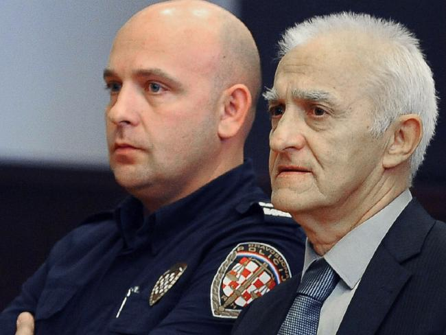Dragan Vasiljkovic, right, a former Serb paramilitary commander, has been sentenced t0 15 years in jail.