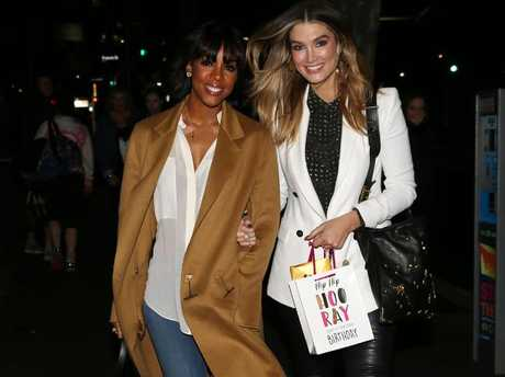 Kelly Rowland and Delta Goodrem attend Boy George's birthday party in Sydney.