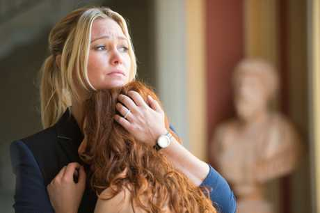 Julia Stiles in a scene from the TV series Riviera.