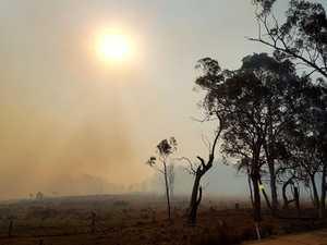 Total fire ban enforced as crews battle bushfire