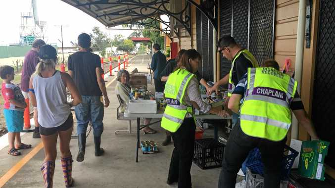 Helping Hands volunteers at The Railway Station after the 2017 Lismore Floods.
