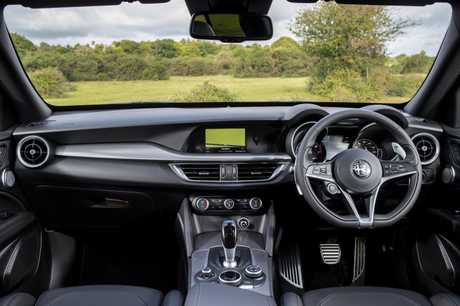 The 2018 Alfa Stelvio interior (overseas model shown).