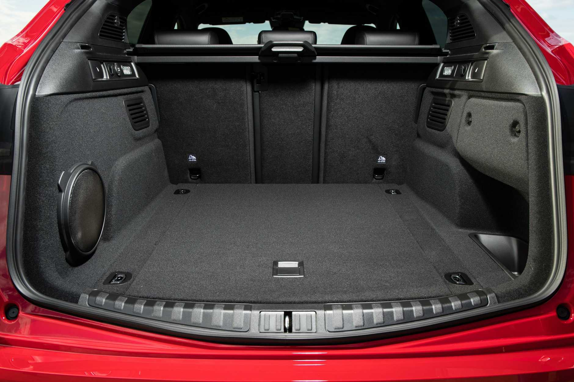The boot space in the 2018 Alfa Stelvio (overseas model shown).
