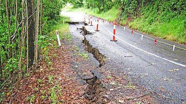 Flood damaged roads in Lismore will take months to repair.
