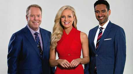 The Project's Peter Helliar, Carrie Bickmore and  Waleed Aly