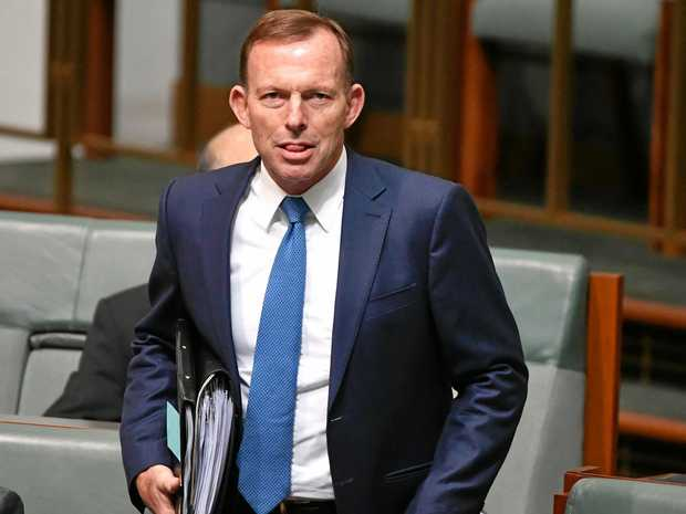 Former prime minister Tony Abbott during Question Time in the House of Representatives at Parliament House in Canberra. (AAP Image/Mick Tsikas)