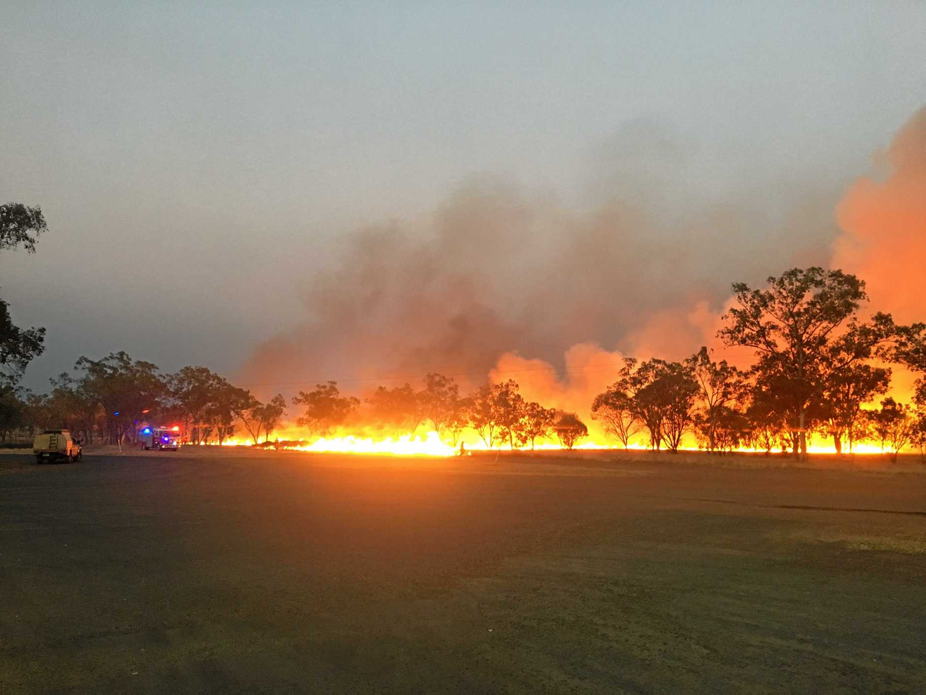 SAFETY FIRST: A controlled burn off was conducted in Injune on Wednesday to help reduce risk of bushfires.