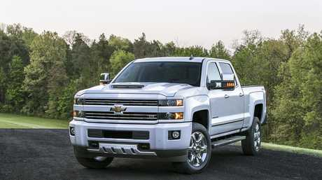 A Chevrolet Silverado pick-up (2017 model shown).