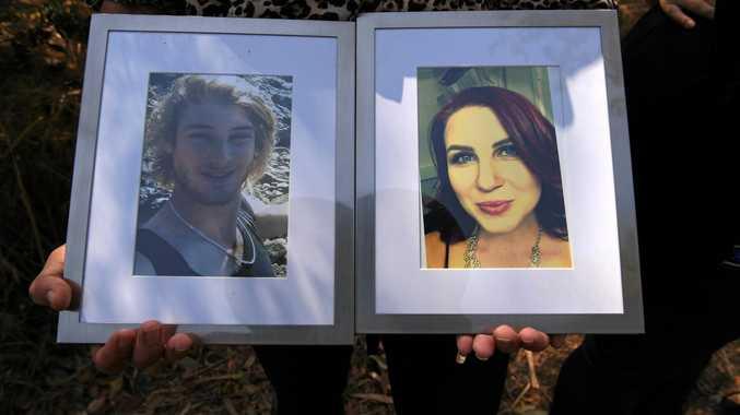 LAW CHANGE: Kerri Walker with portraits of her children Daniel and Sarah.