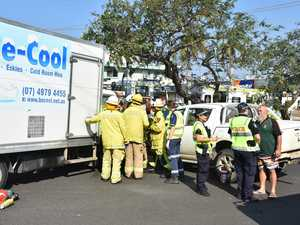 UPDATE: Man stretchered from ice truck, suffers fracture to face