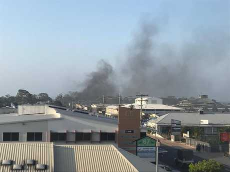 FIRE: Emergency services are on the scene of a fire on Main St, Hervey Bay.
