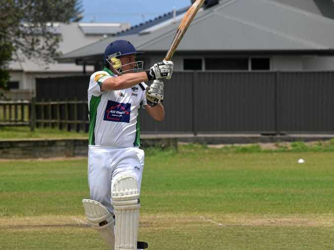 SEASON BEGINS: Lennox Head opener Bruce Young swings the bat against Marist Brothers in FNC LJ Hooker League cricket last summer. The new season starts next Saturday.