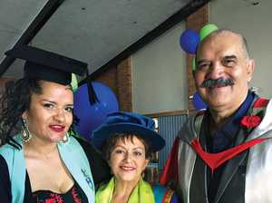Family fields two graduates on the same day