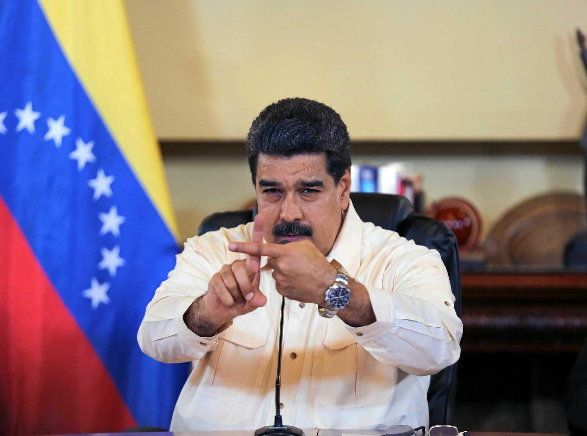 Venezuelan President Nicolas Maduro has denounced US President Donald Trump.