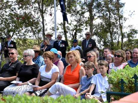 The Noordink and Holt families at the 40th anniversary of the death of the family members.