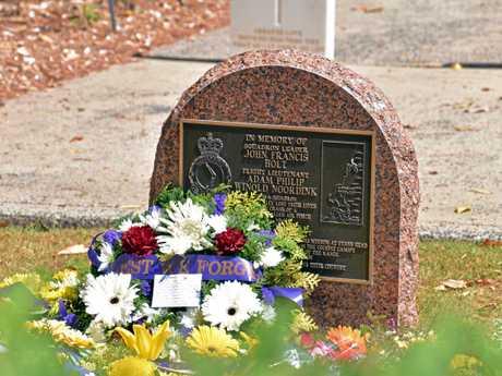 Memorial for both Squadron Leader John Holt and Flight Lieutenant Phil Noordink who were killed at Evans Head.