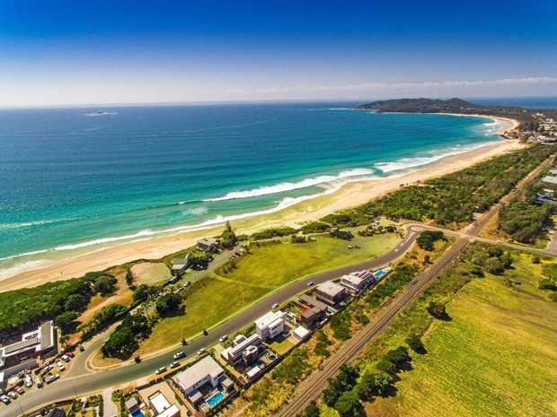 LAST PARADISE: The 11 blocks of vacant beach front land at Belongil Beach.