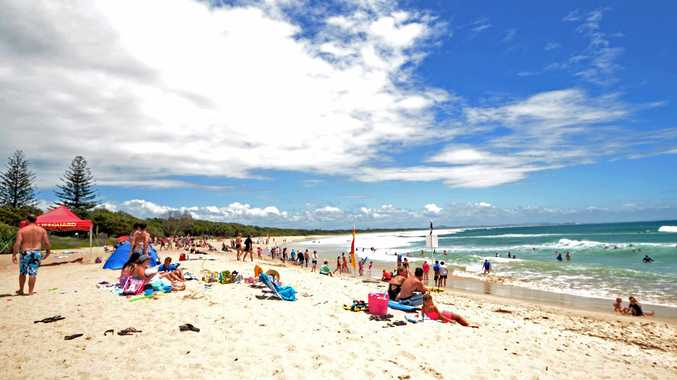 Alarm raised at Main beach at Evans Head after shark sighting.