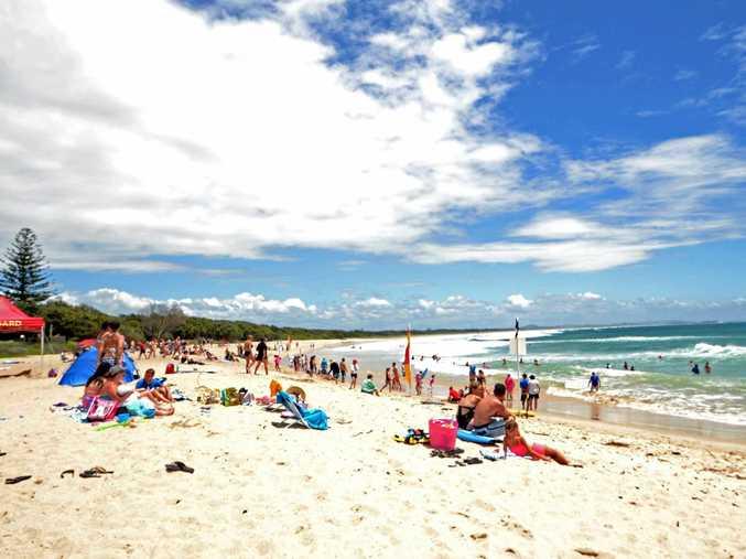 Alarm raised at Main beach at Evans Head after shark sighting.