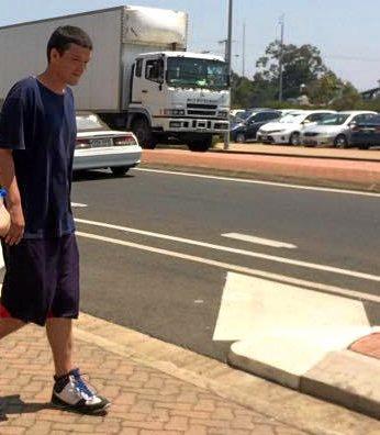 Lee Butler leaves Bundaberg Magistrates Court.