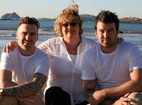 Gabe Watkin and her two sons Cameron (left) and Daniel.