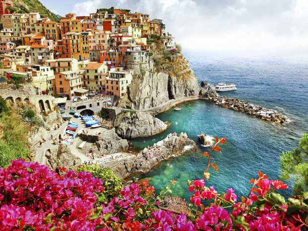 The Cinque Terre means five lands, and is made up of five Italian villages.
