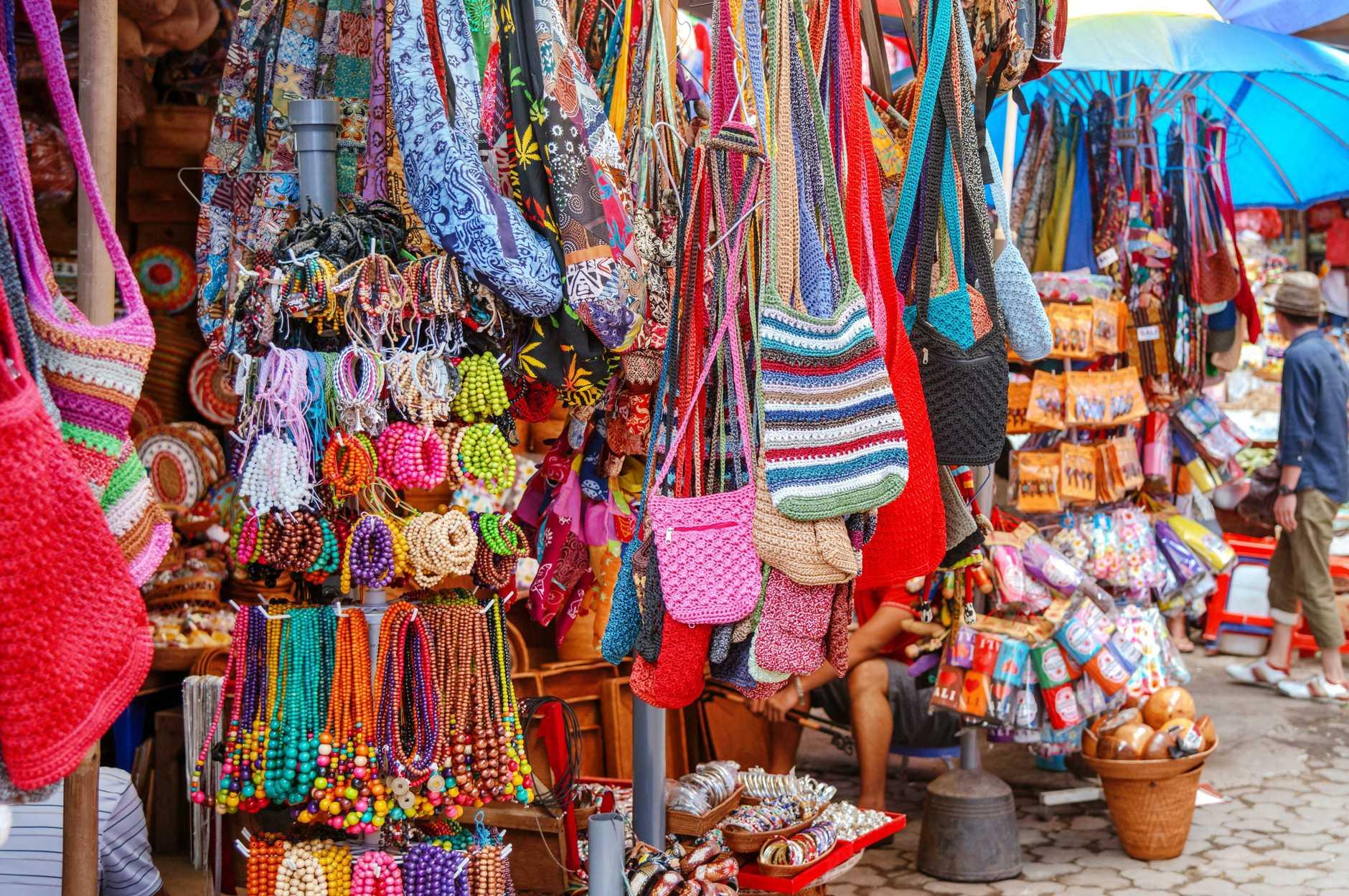 Street Market in Ubud, Bali, Indonesia