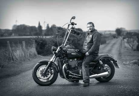 Scottish biker Gordon Cruden