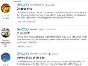 Cafe hammered with bad reviews after no-children policy