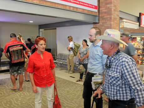 CQ VISIT: Pauline Hanson enjoys chatting with locals who are expressing their concerns.