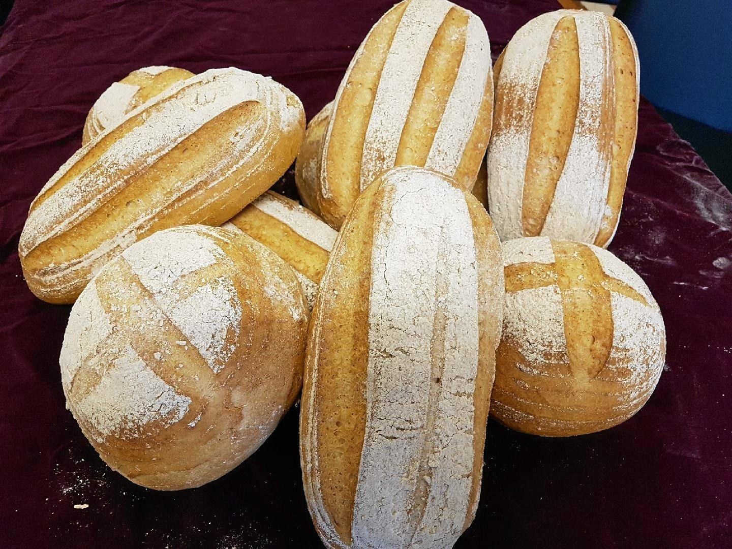 Old Fernvale Bakery's new gluten free sourdough loaves.