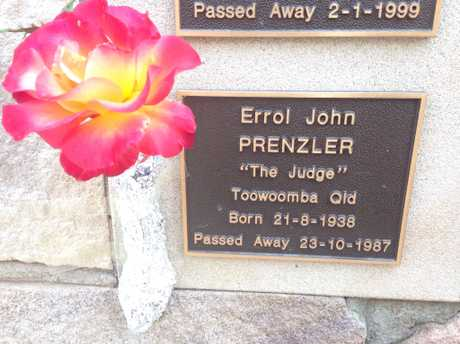 Errol Prenzler plaque on the Lights on the Hill memorial at Gatton.